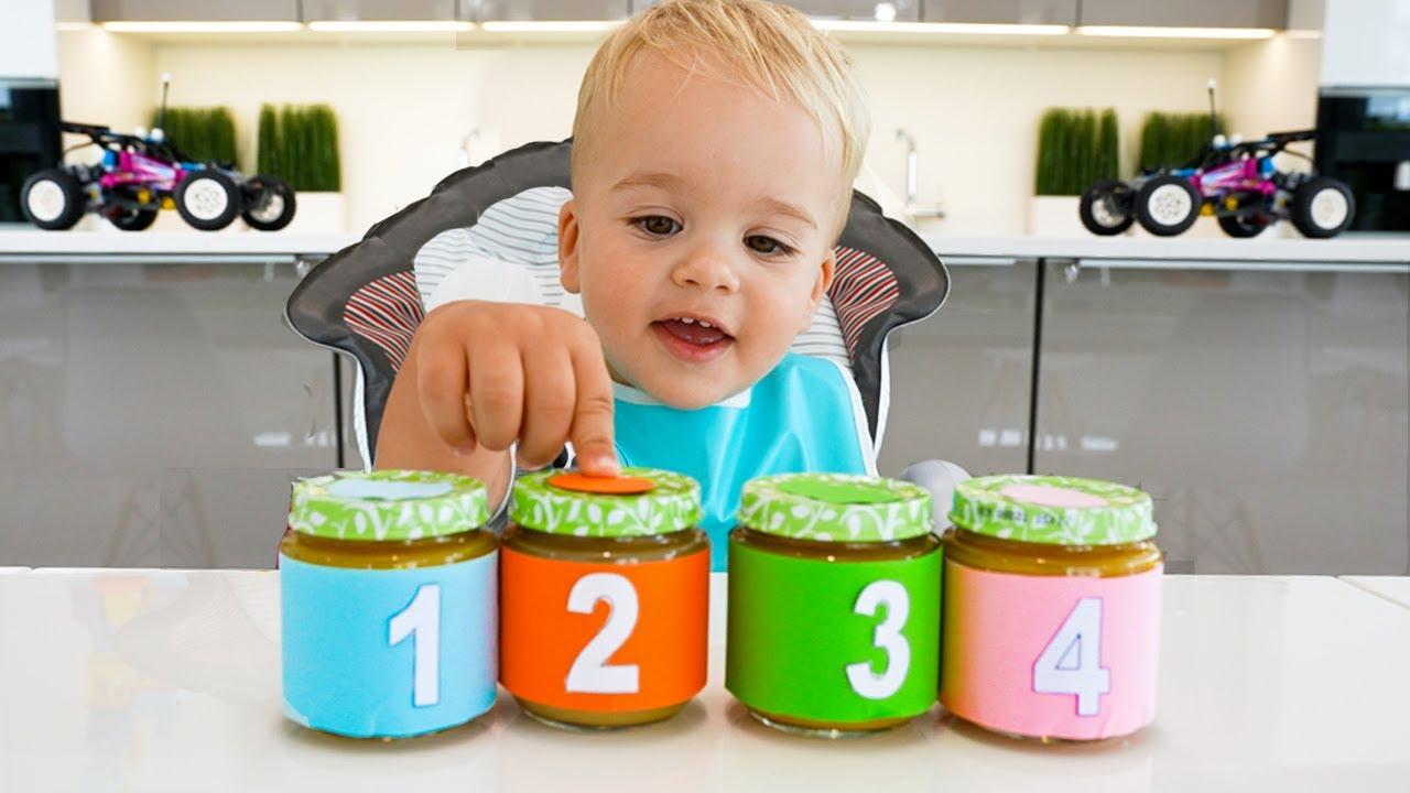 व्लाद और निकी और बेबी क्रिस के साथ संख्या 1-10 जानें