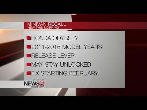 Honda recalls 633,753 Odyssey minivans for rear seat defect