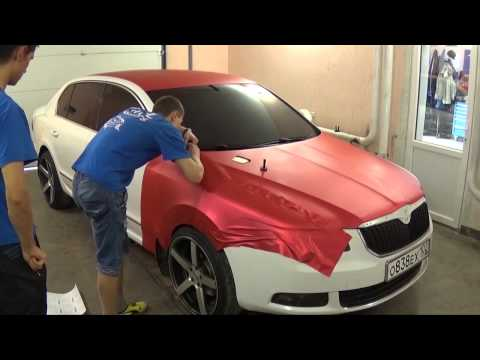 Perfect Job TeckWrap Red Matte Metallic Full Wrap by Vinil Masters Russia