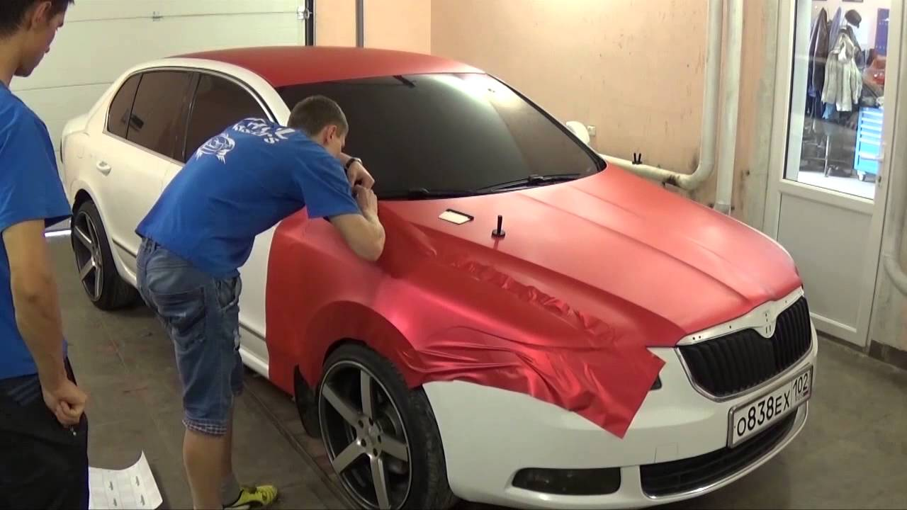 Car Getting Wrapped