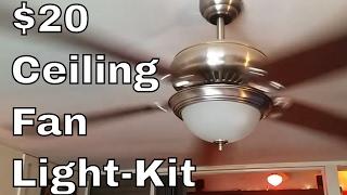 Ceiling Fan Light Kit - DIY