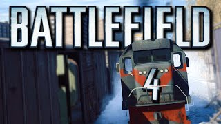 battlefield 4 funny moments train town pancake snipers enemy vehicle surfing bf4 funtage