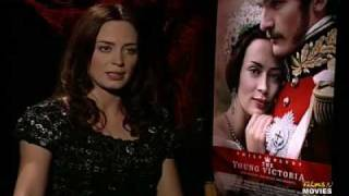 Emily Blunt Films 'N 'The Young Victoria' Interview