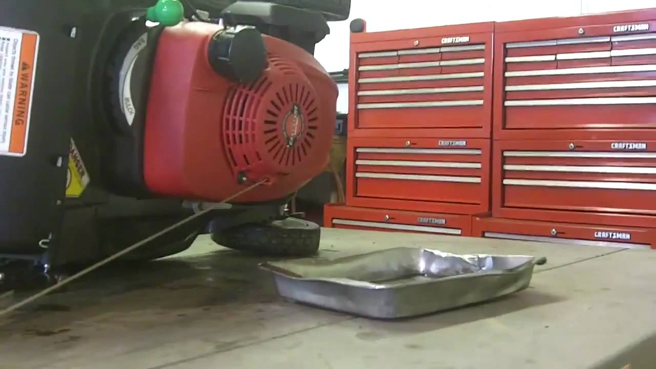 changing draining  walk  lawn mowers oil youtube