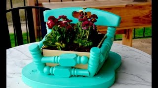 How to make a DIY planter from an old wood chair
