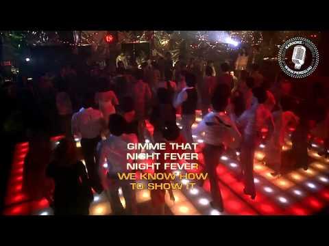 Bee Gees   Night Fever   Karaoke   Peregi 720p