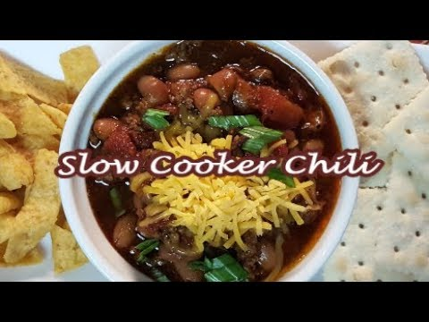EASY SLOW COOKER CHILI | HOW TO MAKE SLOW COOKER CHILI