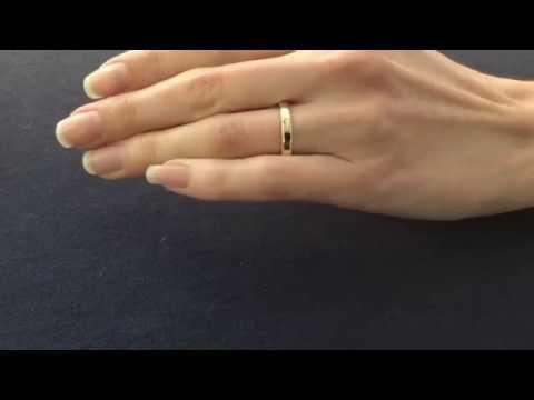 4mm Yellow Gold Wedding Ring Flat Shape Flat Court Shape View