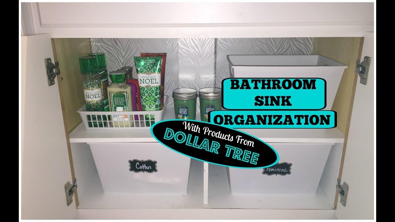 bathroom under sink organization dollar tree storage