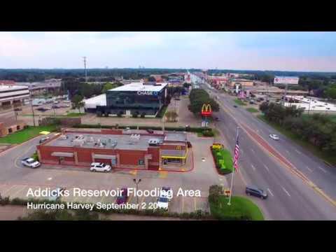 Addicks Reservoir Flooding Highway 6 at Clay Road.