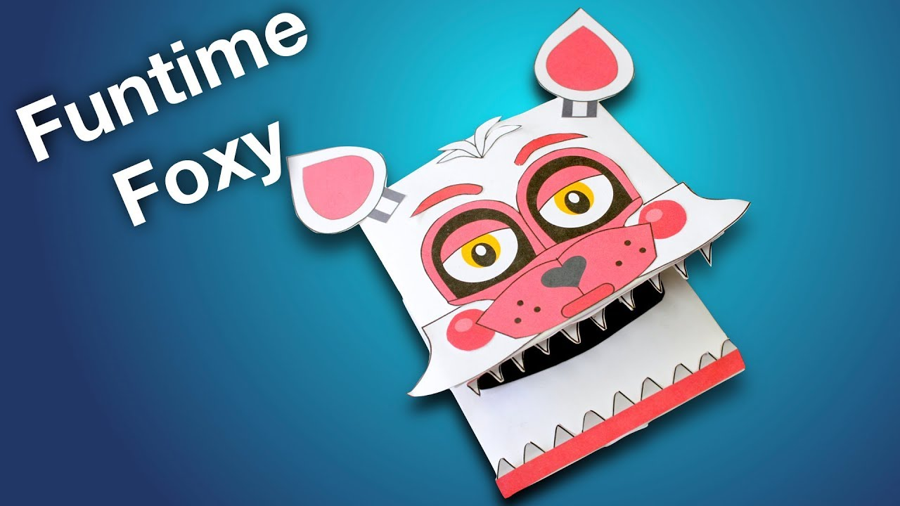 How to Make Funtime Foxy Paper Puppet (Warning, scary footage! May not  suitable for young children)