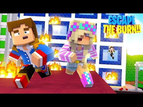 DONNY & LEAH ARE TRAPPED IN A BURNING BUILDING!! Minecraft - Little Donny Adventures