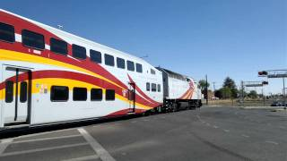 the new mexico rail runner crosses 14 lanes of traffic santa fe nm