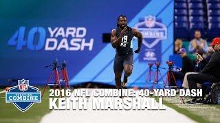 Keith Marshall (Georgia, RB) Incredible 40-Yard Dash | 2016 NFL Combine