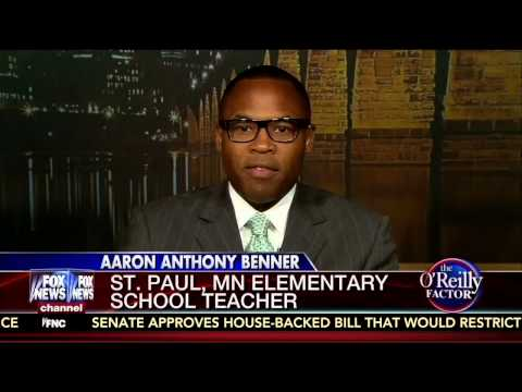 Aaron Benner on The O'Reilly Factor talking 'white privilege' teacher training