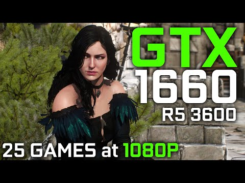 GTX 1660 + RYZEN 5 3600 TEST IN 25 GAMES