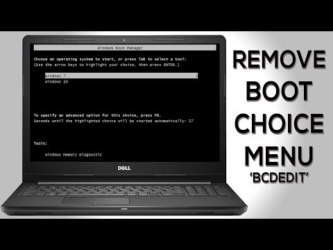 How To Remove Dual BOOT Choice Menu | BCDEDIT Configuration In Windows 7, 8 And 10 In Hind...
