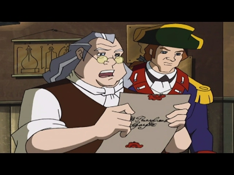Liberty's Kids HD 111 - Postmaster General Franklin   History Cartoons for Children
