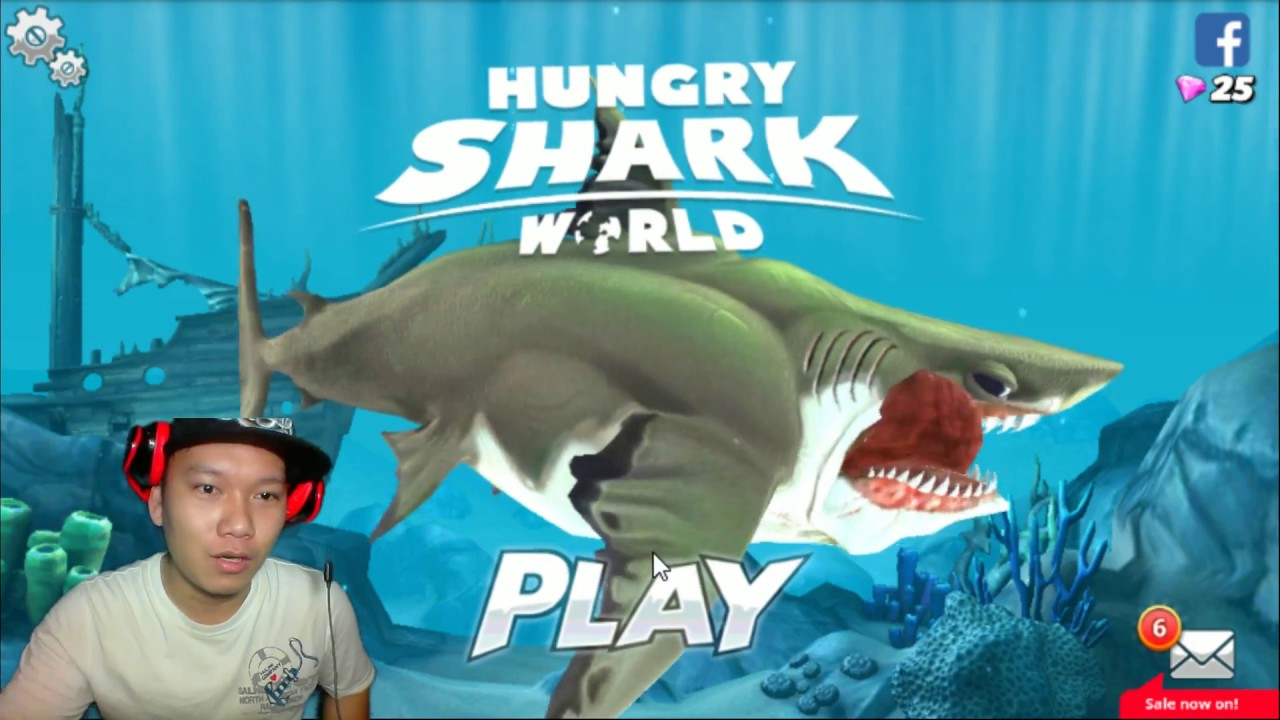 MEGALODON EATS WHALES!!   Hungry Shark World HNT chơi game HNT Channel New 119