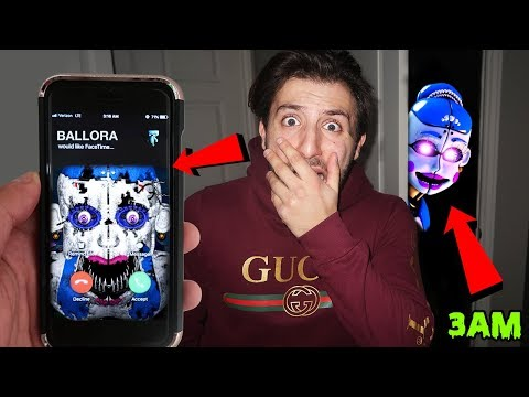(GONE WRONG) CALLING BALLORA ON FACETIME AT 3AM   BALLORA CAME TO MY HOUSE AT 3AM!