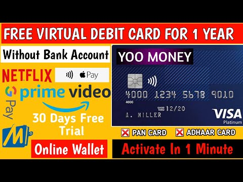 How To Get VISA Card FREE Without Any Documents Proof-Free Virtual Debit Card-YooMoney