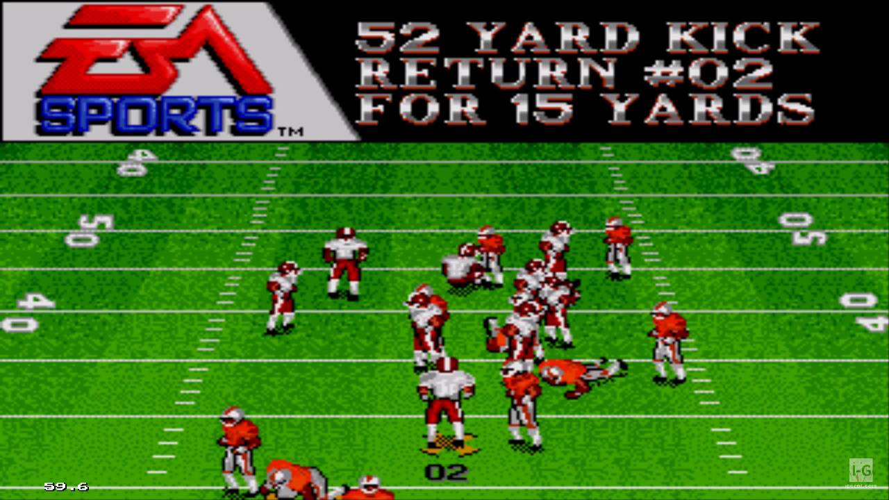 Bill Walsh College Football Sega Genesis Gameplay Hd Youtube
