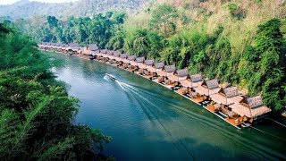 Asia's Top Floating Hotel in Kanchanaburi, Thailand — The FloatHouse River Kwai Resort.