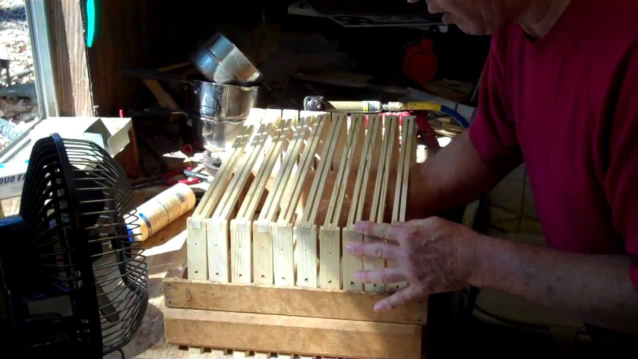 How to put together frames for Honey Bee Hive - YouTube