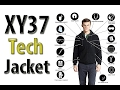 XY37 Travel Tech Jacket Hoodie with Travel Pillow/Eye Mask/Face Mask/Gloves Review!