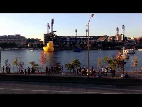 Giant Rubber Duckie in Pittsburgh