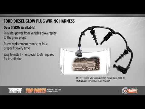 diesel glow plug wiring harness