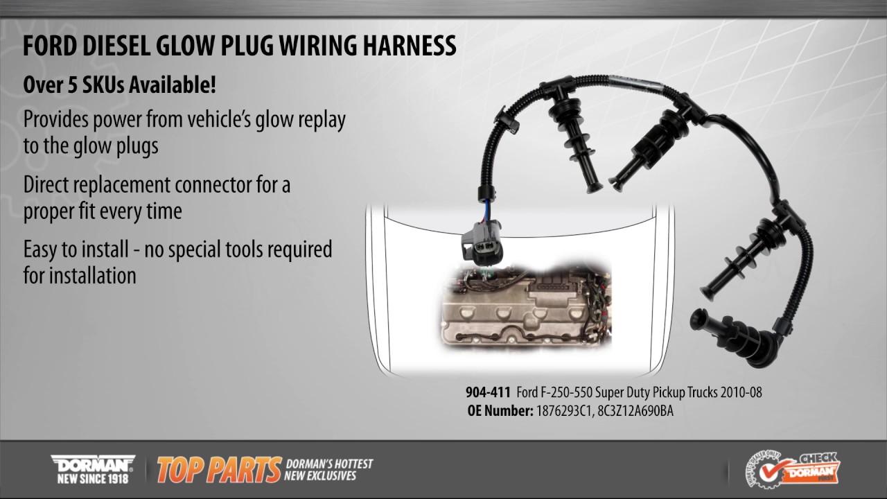 diesel glow plug wiring harness [ 1280 x 720 Pixel ]