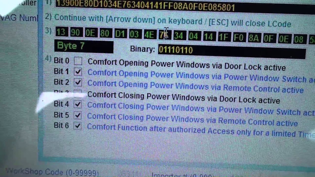 How to program remote powered windows on a 2009 VW Passat