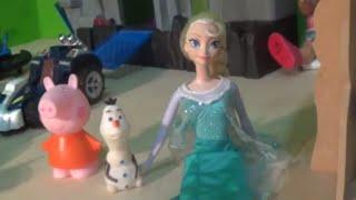 Barbie 12 Princesas bailarinas filme Pepa Pig Papai Pig Frozen Princesa Elsa Olaf Baby Alive Loira