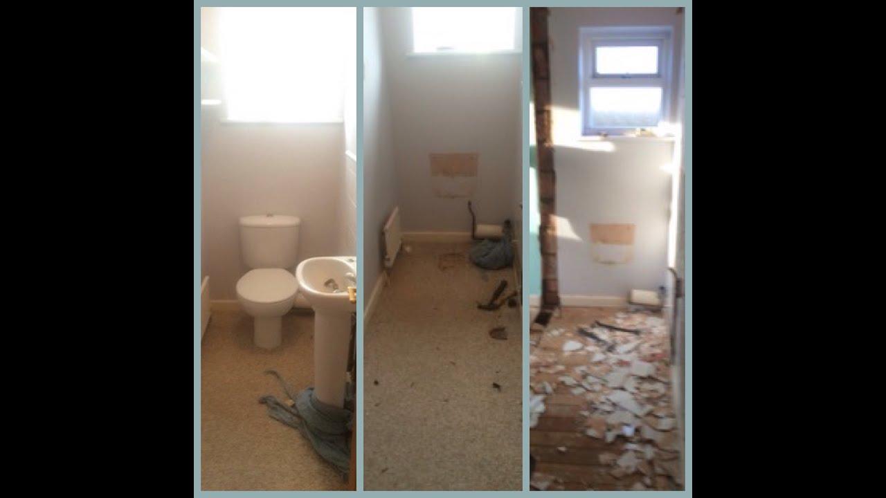 En Suite Bathroom With Separate Toilet: Bathroom With Separate Toilet Changed To En-suite
