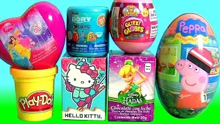 TOYS SURPRISE Glitzi Globes Disney Princess Peppa Pig Hello Kitty Play Doh Egg Surprise Hadas