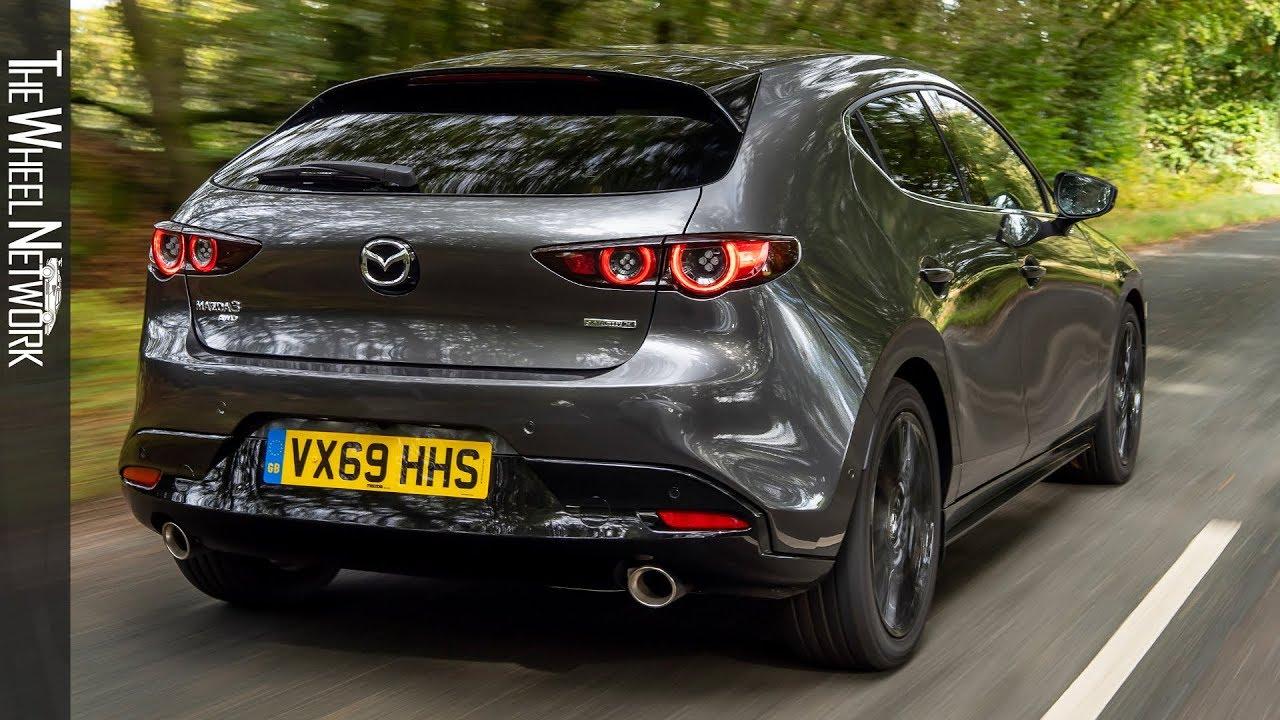 2020 Mazda 3 Skyactiv X Gt Sport Tech Hatchback Machine Grey Driving Interior Exterior Uk