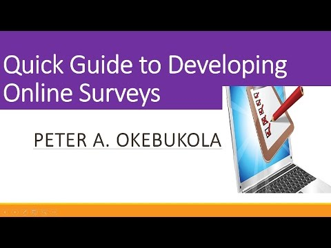 Quick Guide to Online Questionnaire Surveys by Peter A. Okebukola