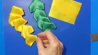 как сделать поделки из атласных лент