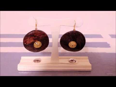 PORTA ORECCHINI IN LEGNO FAI DA TE - wooden earrings holder DIY