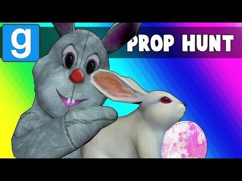 Gmod Prop Hunt Funny Moments - Easter Egg Hunting 2018! (Garry