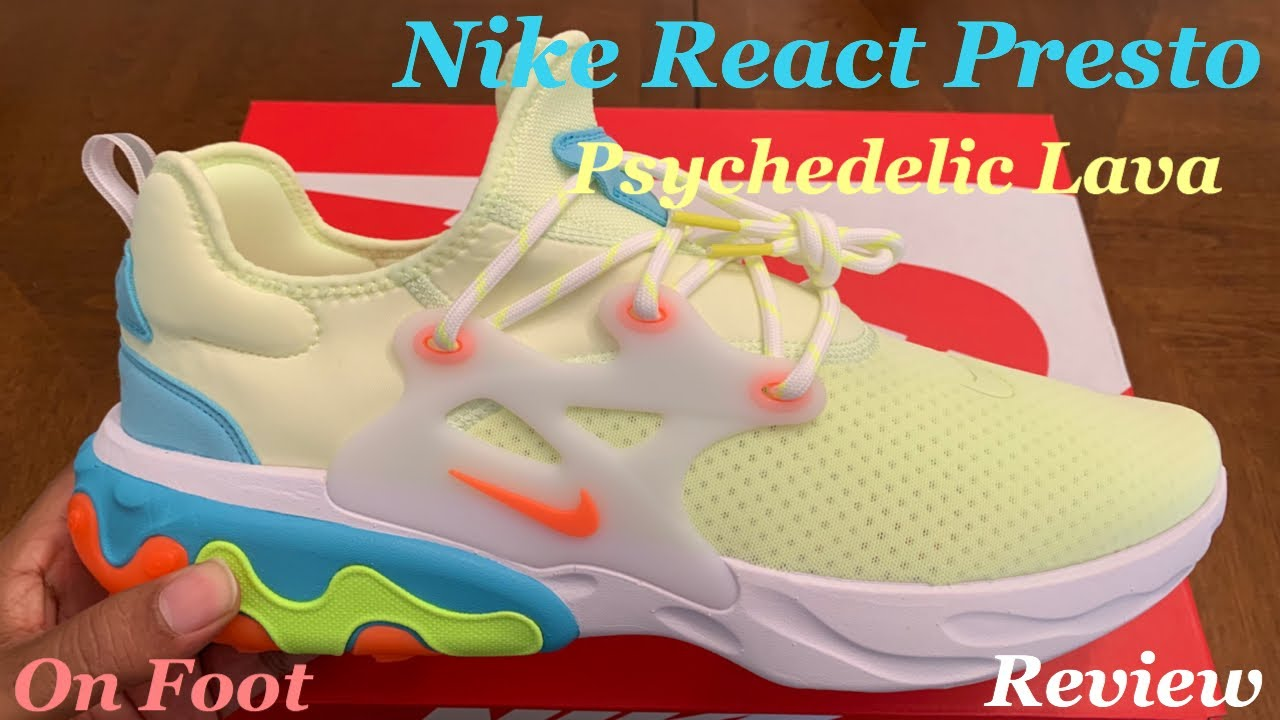 finest selection 2d45c 15255 Nike React Presto Psychedelic Lava Unboxing, Detailed Review & On Foot  w/McFly KOF