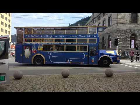 Sightseeing bus in Bergen,  Norway