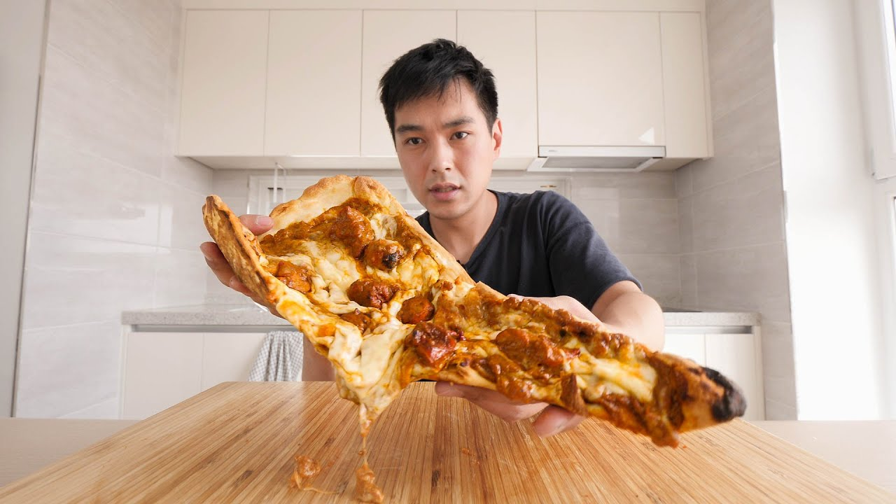 Intense Indian Curry Pizza