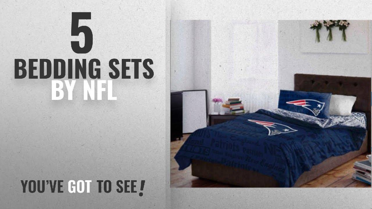Charmant Top 10 Nfl Bedding Sets [2018]: New England Patriots Queen Comforter U0026  Sheet Set (5 Piece Bedding)