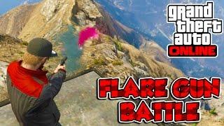 Grand Theft Auto 5 Online PC Funny Moments - FLARE GUN BATTLE!
