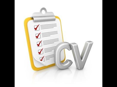 Tutorial for curriculum vitae or cv format