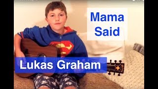 Mama Said - Lukas Graham - Cover by Ben Glanfield age 10