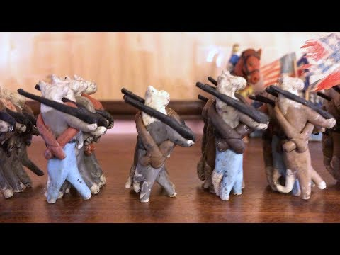 CIVIL WAR TAILS: Dioramas of the Gettysburg Battlefields using clay cats