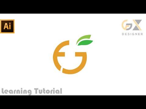 Letter Mark FG  logo design | illustrator tutorial thumbnail